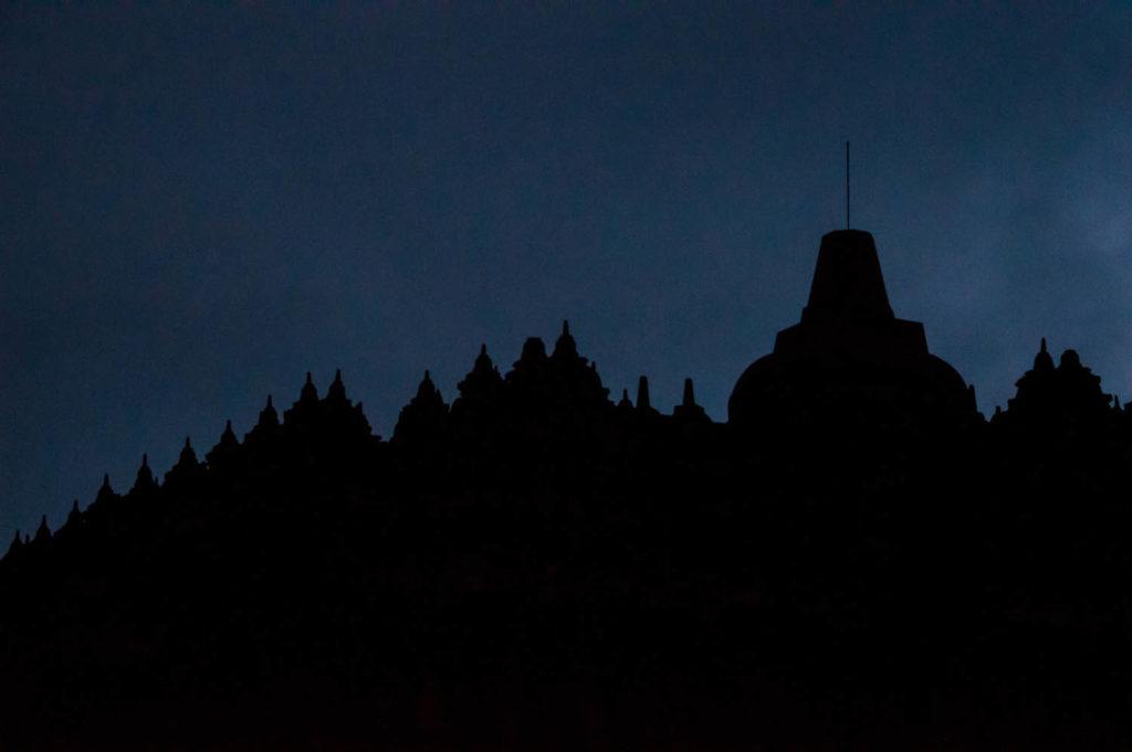 Dawn at Borobudur temple indonesia