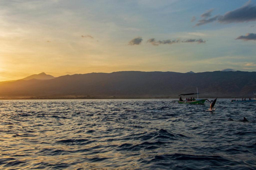 sunrise at lovina in bali indonesia