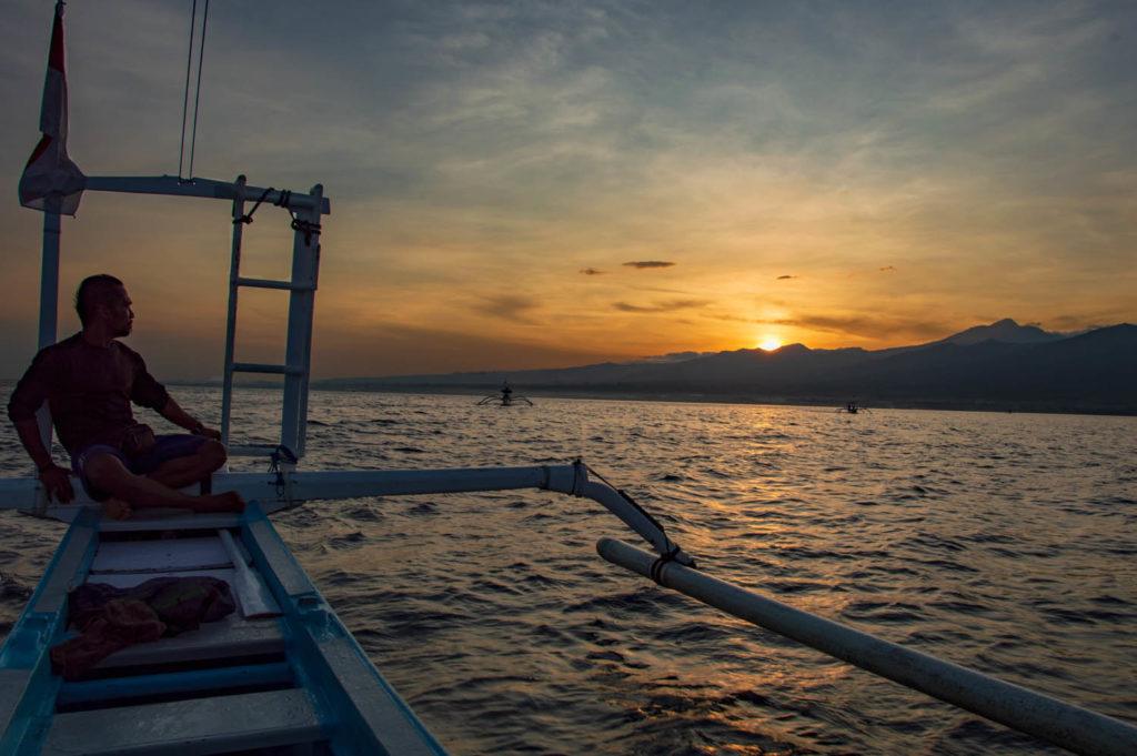 sunrise in Lovina indonesia