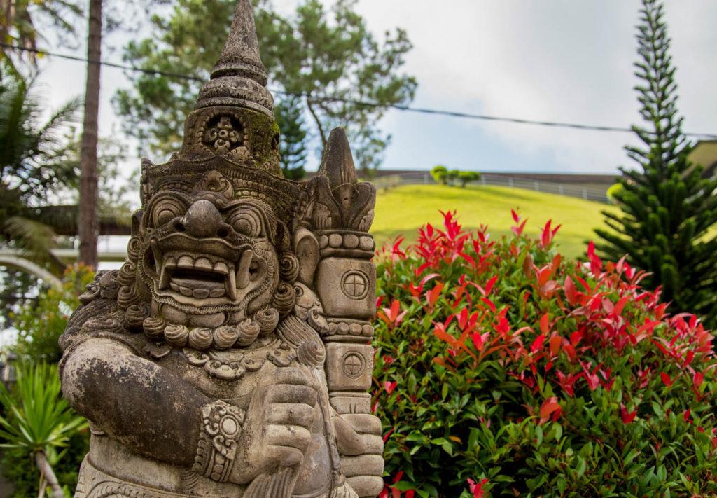 Statue flower spirituality devotion indonesia