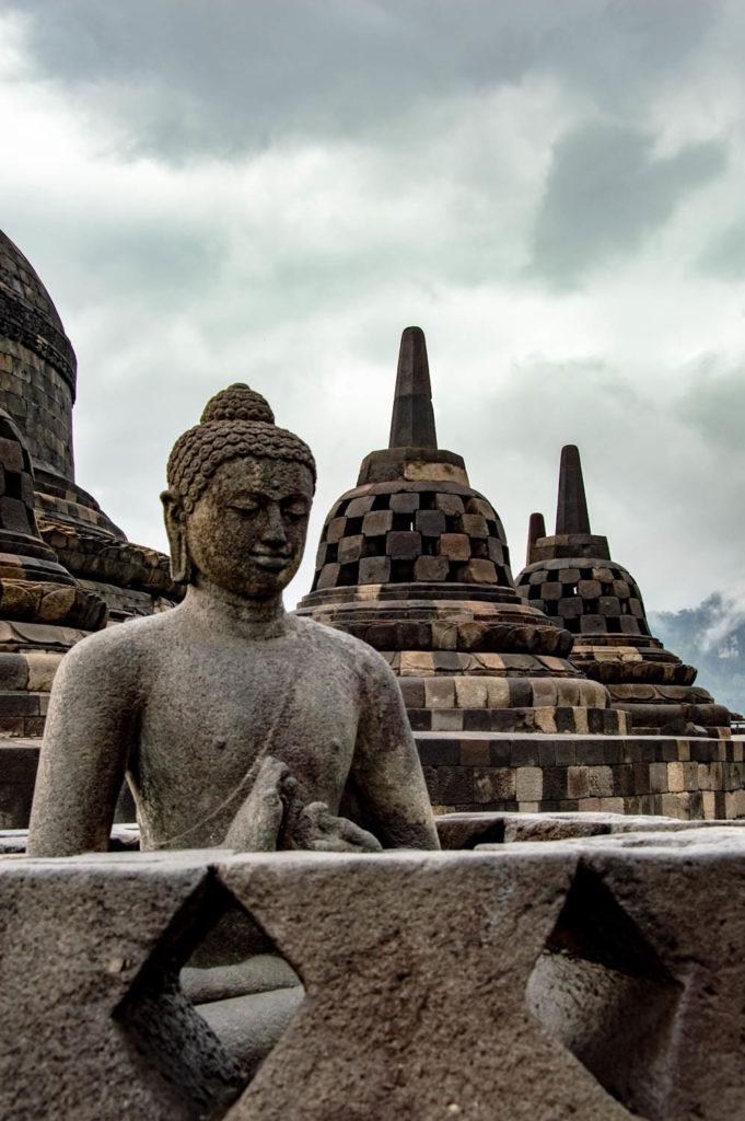 Temple statue borobodur indonesia