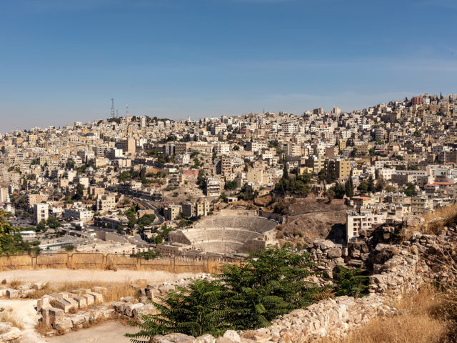 city view of Amman from above