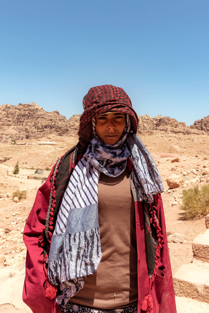 Beautiful girl in Petra