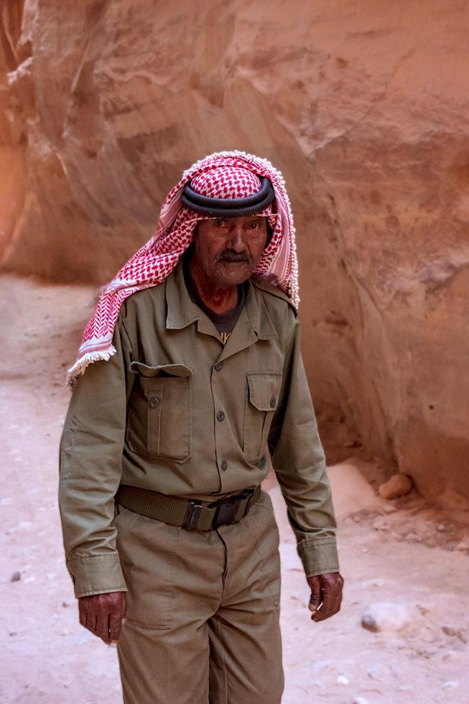 Old bedouin in Petra