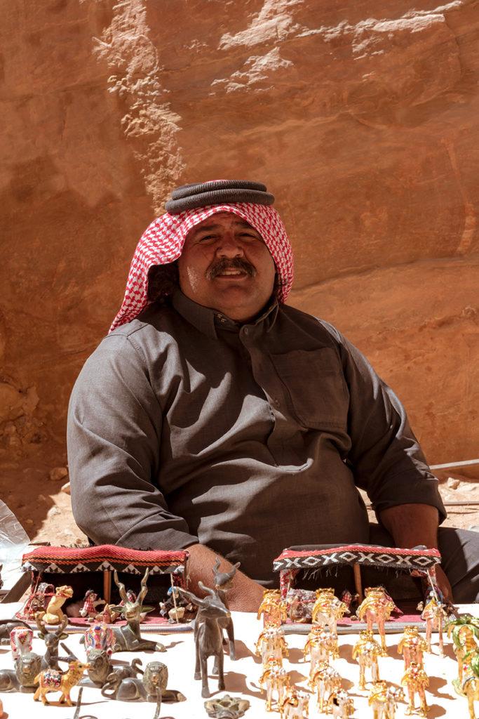 Bedouin seller petra jordan
