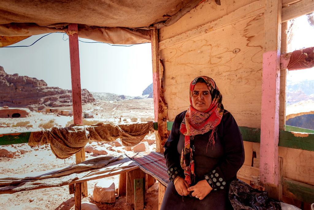 Cozy lady in Petra jordan
