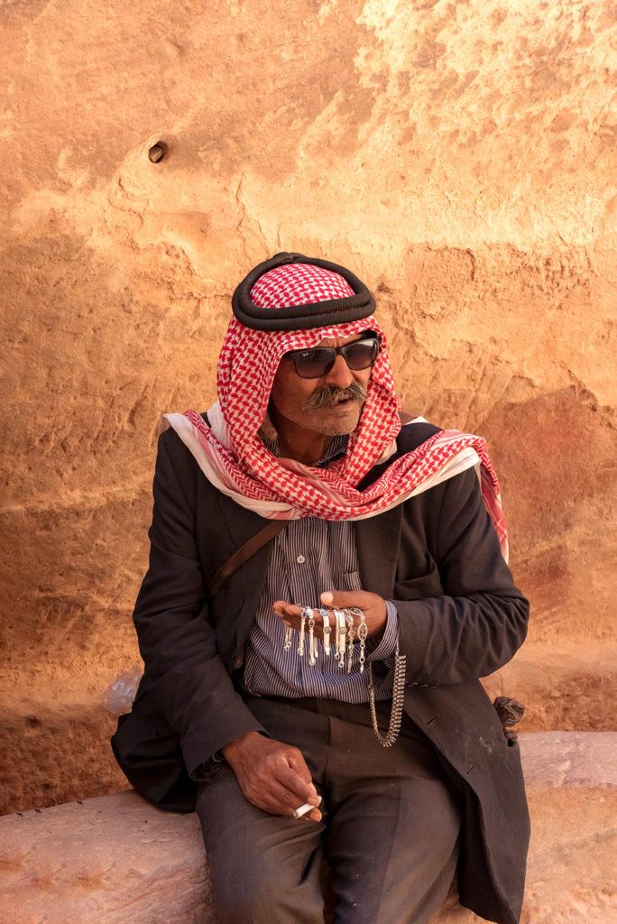 jewelery seller in petra jordan