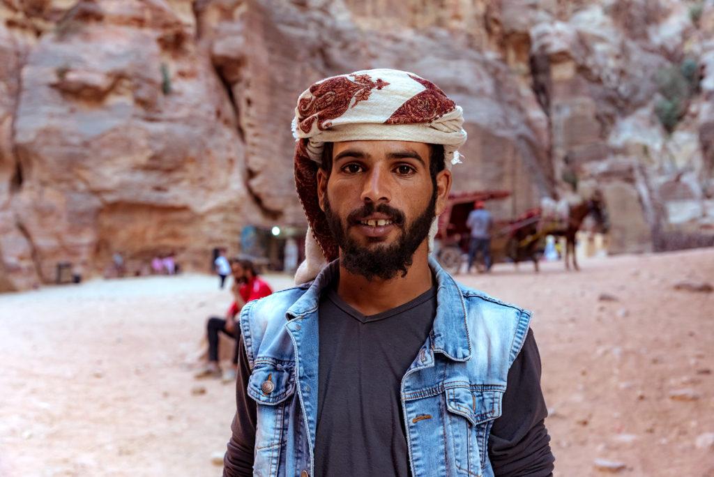 Jordan guy in Petra