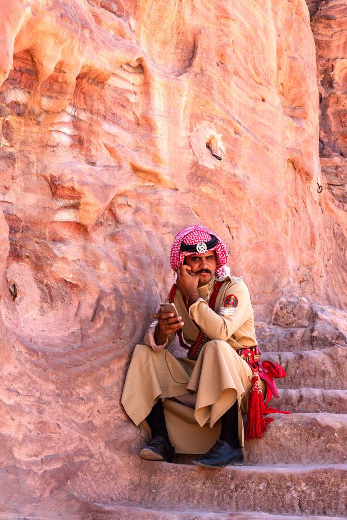 Military men in Petra