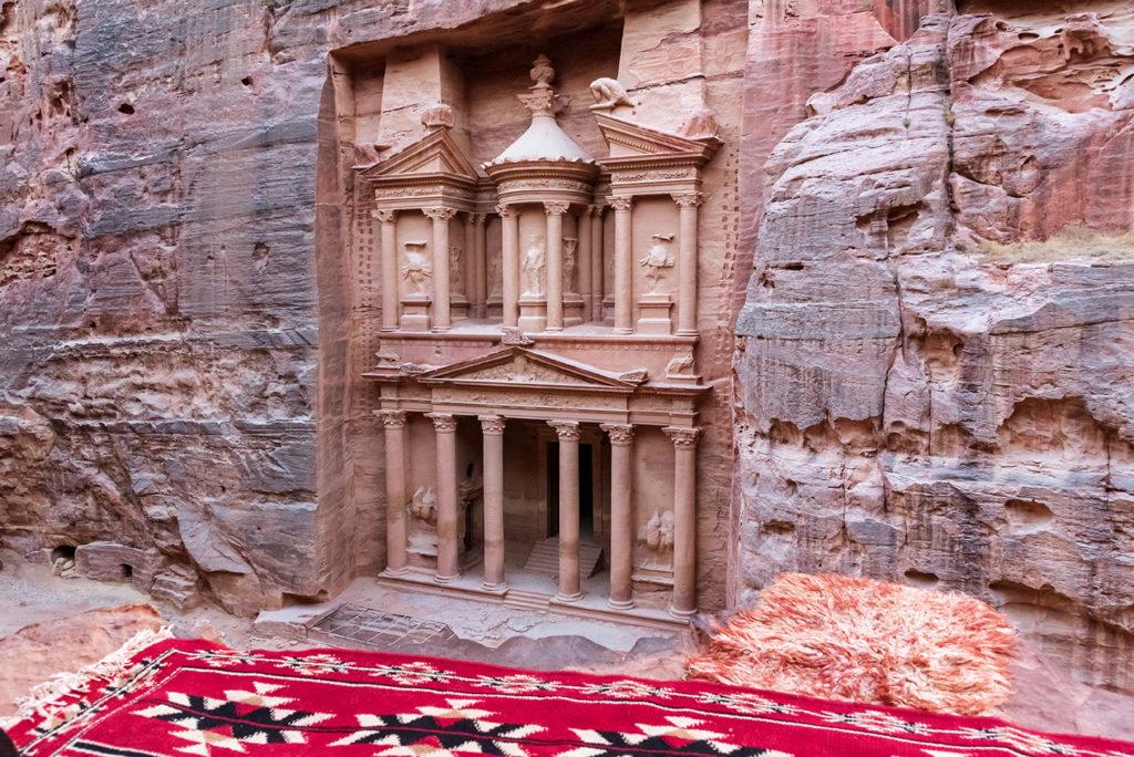 Treasure view from above Petra Jordan