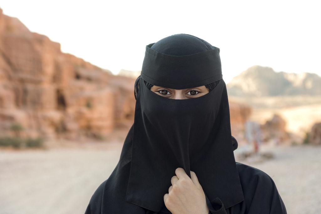 Beautiful girl with a burqa