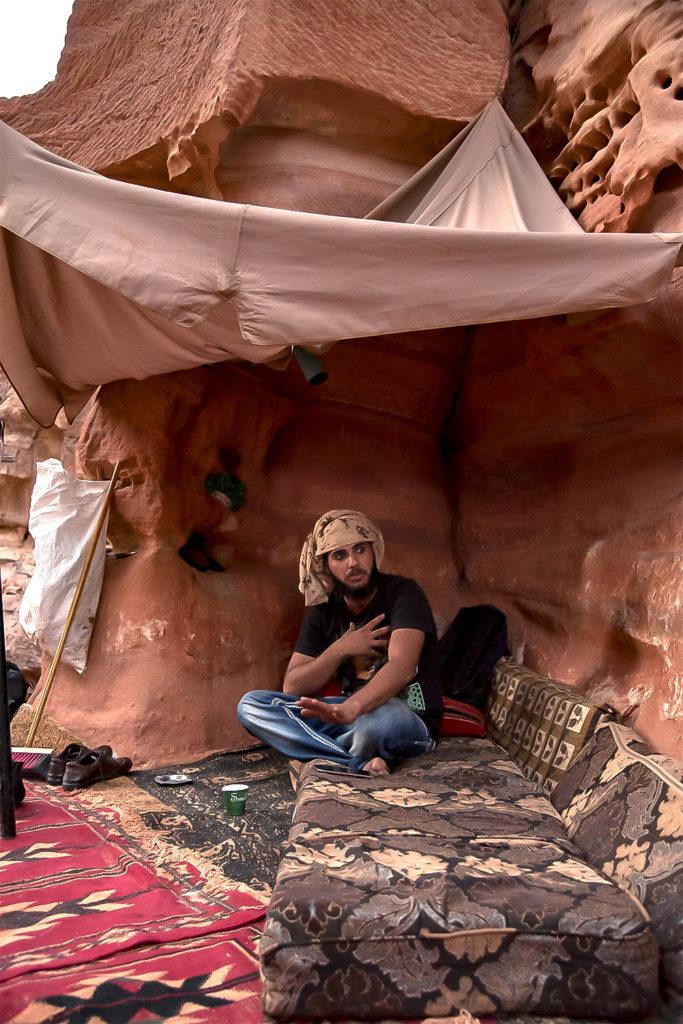 jordan kid in his home facing petra