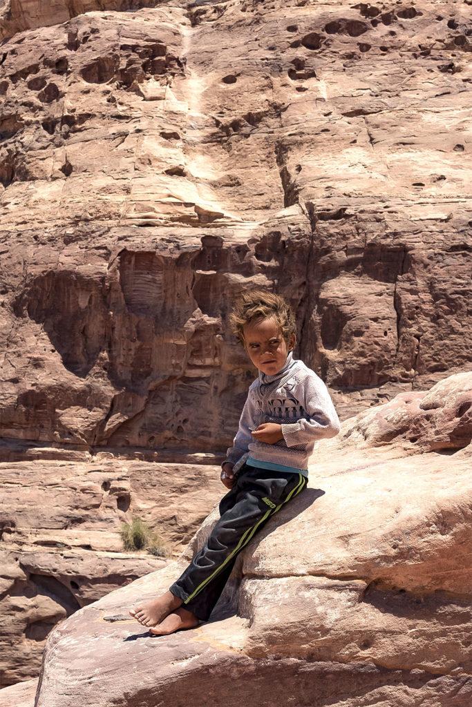 Jordan kid in petra