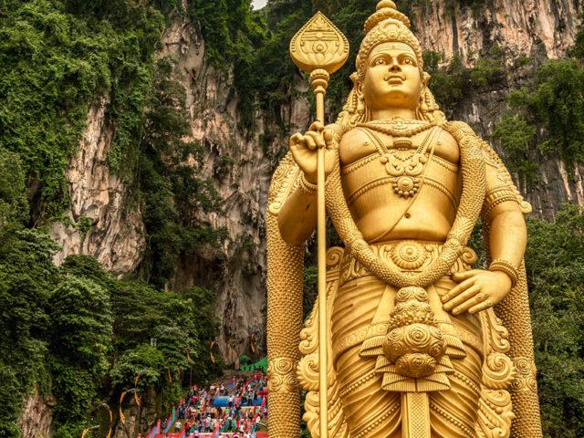Batu Caves Malaysia temple stairs