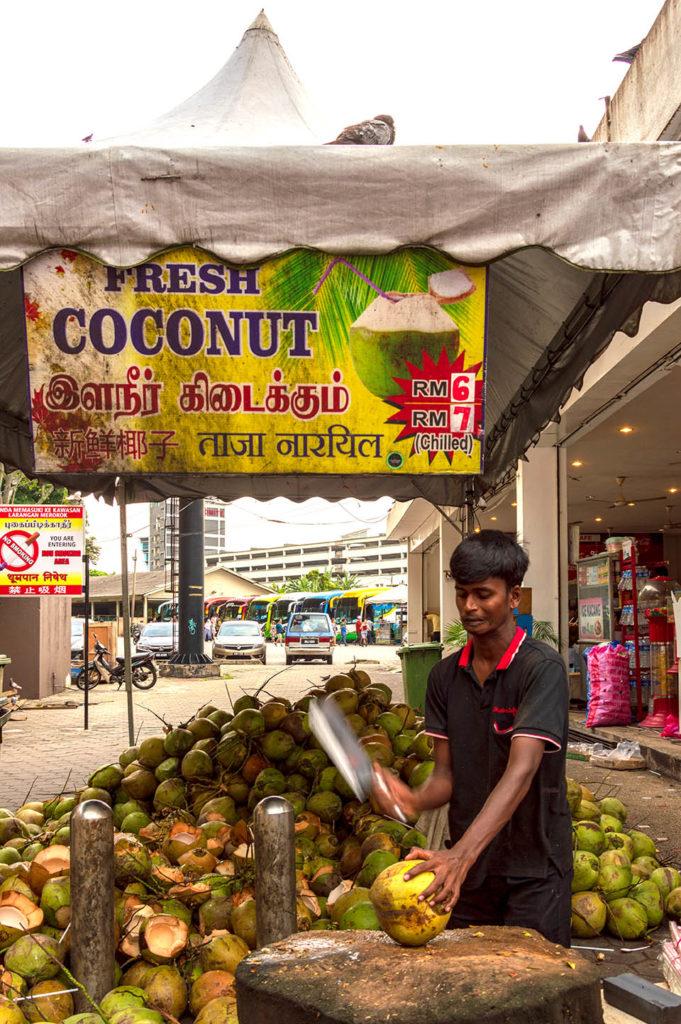 Batu Caves Malaysia coconut