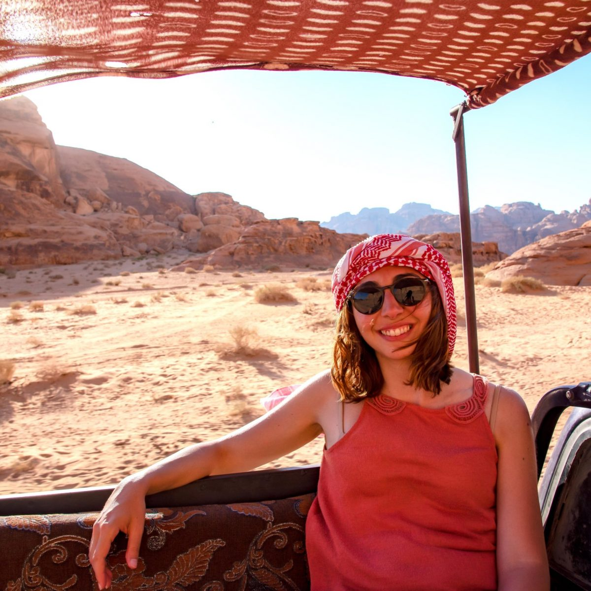 portrait Marina Chirico photo travel in Jordan